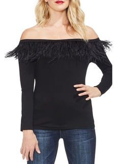 Vince Camuto Feather Detail Off the Shoulder Top