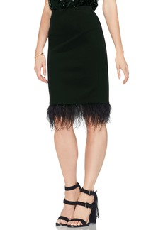 Vince Camuto Feathered Hem Pencil Skirt