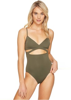 Vince Camuto Fiji Solids Wrap One-Piece