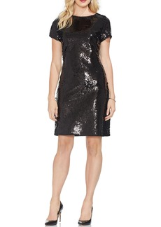 Vince Camuto Fish Scale Sequin Sheath Dress