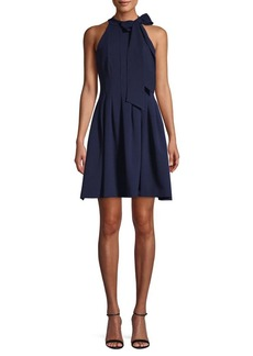 Vince Camuto Fit-&-Flare Bow-Neck Dress