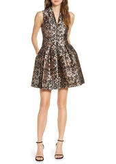 Vince Camuto Fit & Flare Brocade Dress