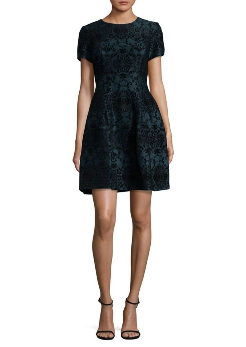 Vince Camuto Vince Camuto Short Sleeve Fit Amp Flare Dress