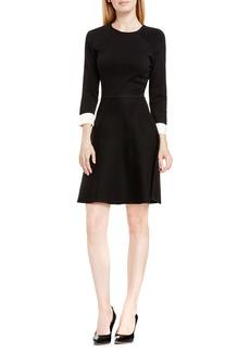 Vince Camuto Fit & Flare Sweater Dress (Regular & Petite)