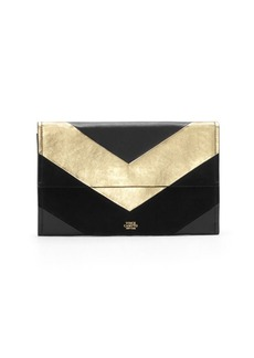 Vince Camuto Fitzi Texture Block Leather Clutch