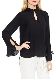 Vince Camuto Flare Cuff Keyhole Blouse