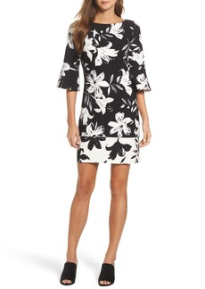 Vince Camuto Flare Sleeve Shift Dress