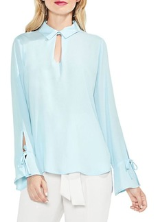 Vince Camuto Flared Cuff Keyhole Blouse