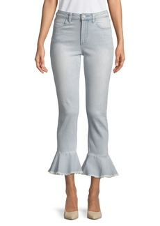 Vince Camuto Flared High-Rise Jeans