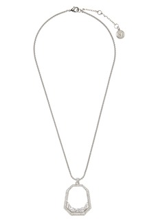 Vince Camuto Floating Crystal Open Pavé Pendant Necklace