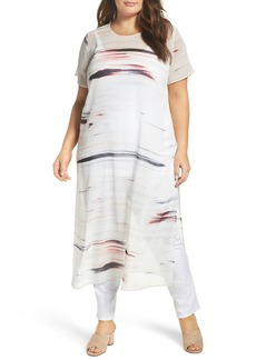Vince Camuto Floating Whispers Long Tunic (Plus Size)