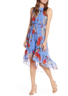 Vince Camuto Floral Chiffon High/Low Dress