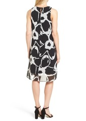 Vince Camuto Floral Chiffon Shift Dress