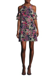 Vince Camuto Floral Cold-Shoulder Dress