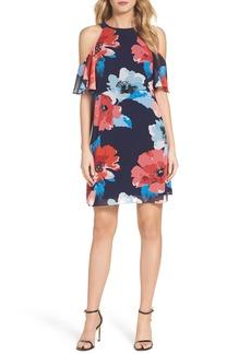 Vince Camuto Floral Cold Shoulder Shift Dress