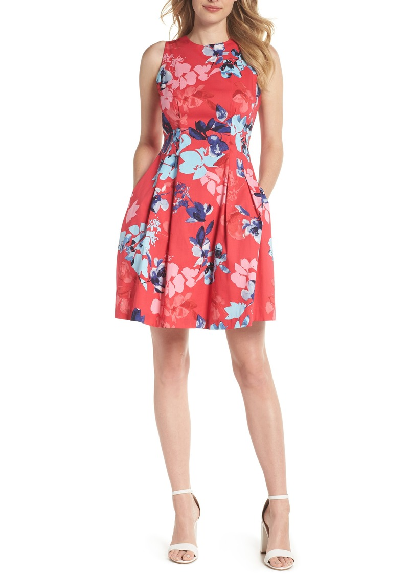 5c14bfdb2f7 Vince Camuto Vince Camuto Floral Cotton Fit   Flare Dress