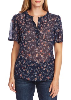 Vince Camuto Floral Ditsy Short Sleeve Blouse