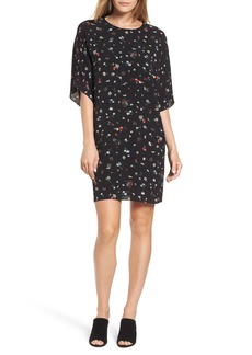 Vince Camuto Floral Dolman Sleeve Dress