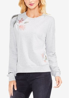 Vince Camuto Floral-Embroidered Sweatshirt