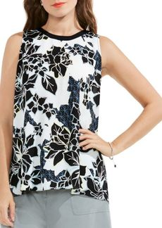 Vince Camuto Floral Exhibit Back Tie Blouse