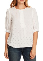 Vince Camuto Floral Eyelet Embroidered Top