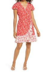 Vince Camuto Floral Faux Wrap Dress