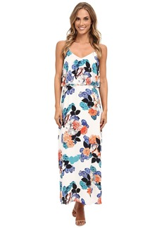 Vince Camuto Floral Garden Maxi Dress w/ Crop Overlay