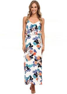 Vince Camuto Floral Garden Maxi Dress w/ Crop Overlay