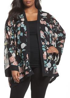 Vince Camuto Floral Gardens Kimono Blouse (Plus Size)
