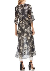 Vince Camuto Floral Getaway Chiffon Duster