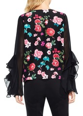 Vince Camuto Floral Heirloom Ruffle Sleeve Top