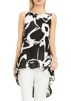 Vince Camuto Floral High/Low Floral Print Blouse