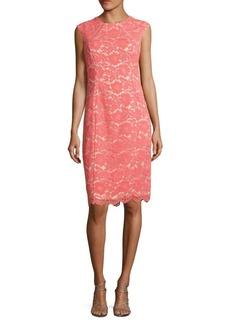 Vince Camuto Floral Lace Shift Dress