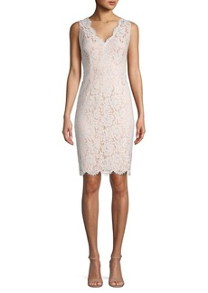 Vince Camuto Floral Lace Sleeveless Sheath Dress