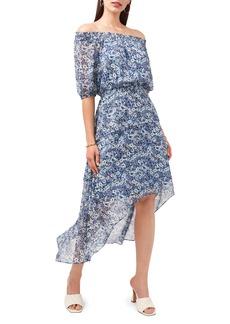 Vince Camuto Floral Off the Shoulder High/Low Dress