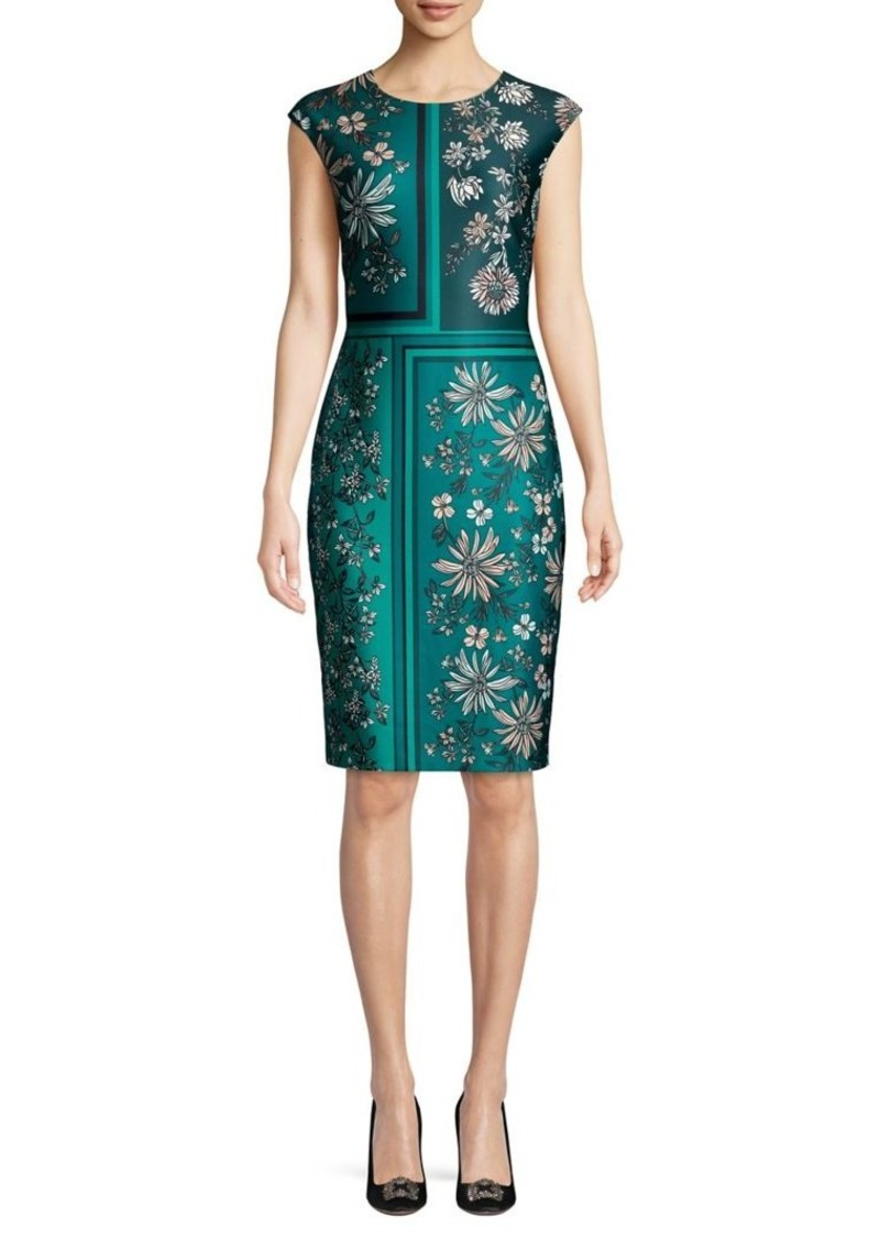 Vince Camuto Floral Panel Sheath Dress