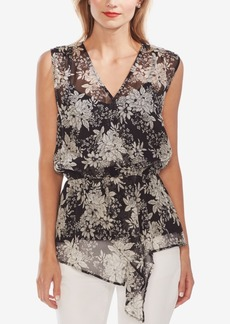 Vince Camuto Floral-Print Asymmetrical Top