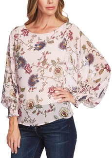 Vince Camuto Floral-Print Batwing Sleeve Blouse