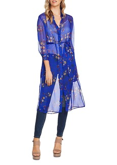 VINCE CAMUTO Floral Print Belted Tunic