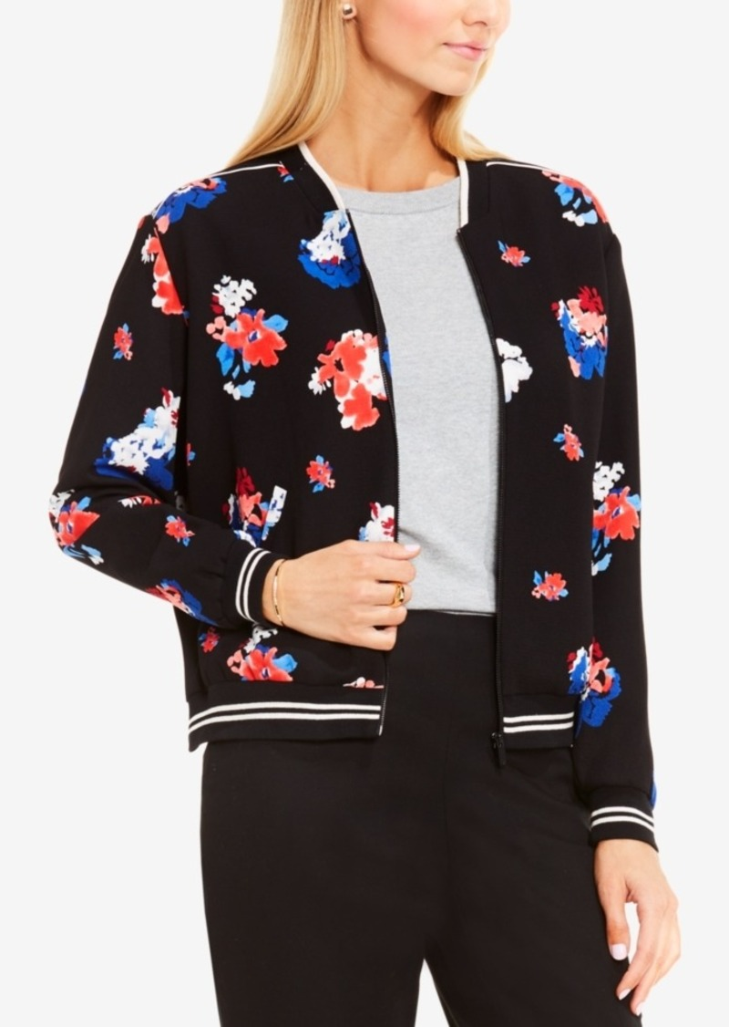 Vince Camuto Floral-Print Bomber Jacket