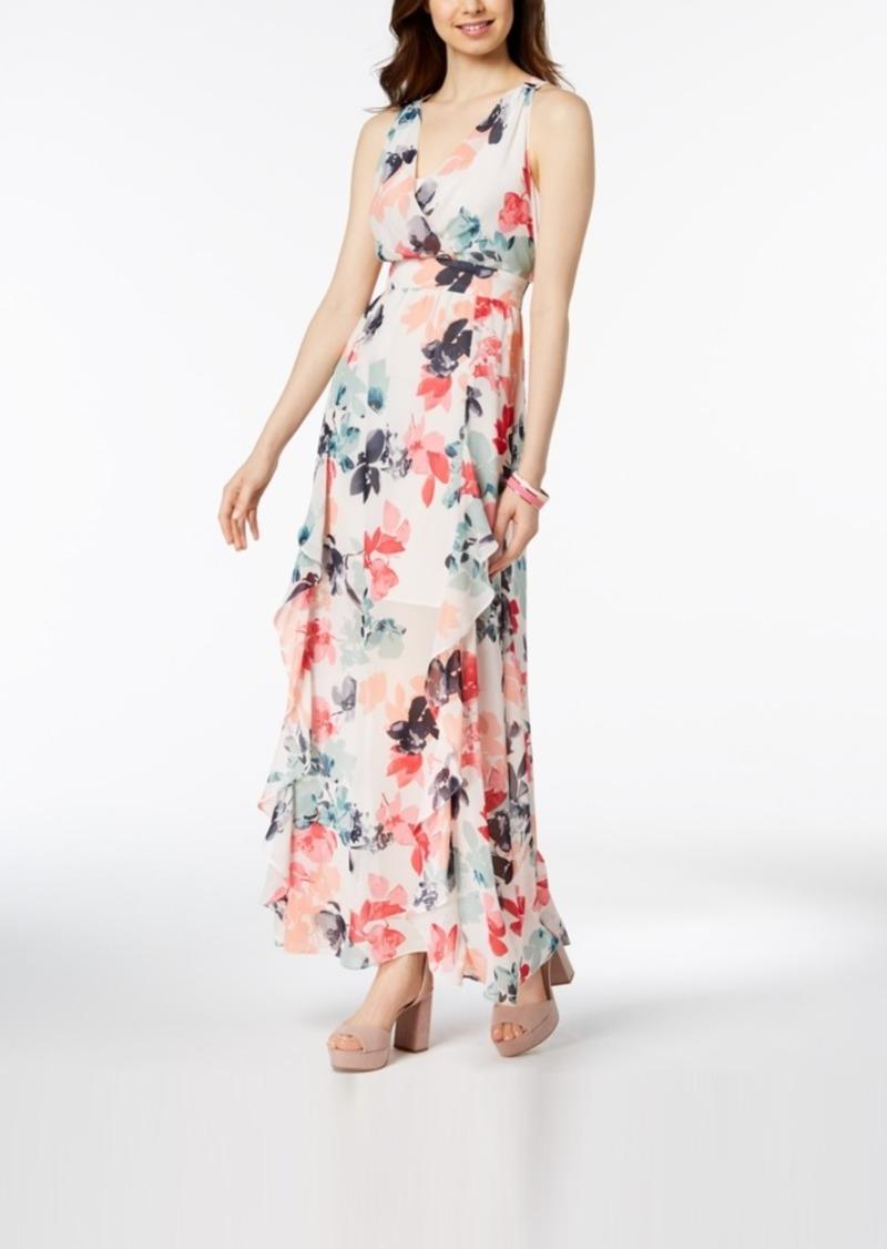 bf26bfbfe Vince Camuto Vince Camuto Floral-Print Chiffon Ruffle Maxi Dress ...