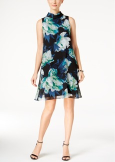 Vince Camuto Floral-Print Chiffon Shift Dress, A Macy's Exclusive Style