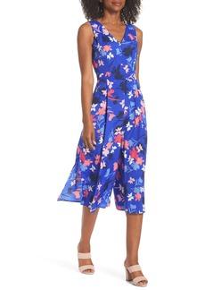 Vince Camuto Floral Print Crop Jumpsuit