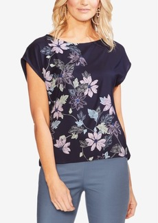 Vince Camuto Floral-Print Extended-Sleeve Top