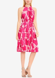 Vince Camuto Floral-Print Fit & Flare Halter Dress