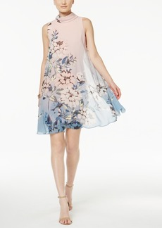 Vince Camuto Floral-Print Flyaway Shift Dress