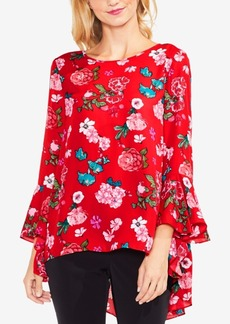 Vince Camuto Floral-Print High-Low Top