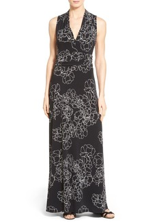 Vince Camuto Floral Print Jersey Maxi Dress (Regular & Petite)