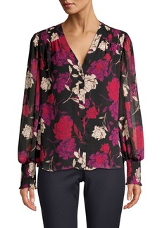 Vince Camuto Floral-Print Long-Sleeve Top