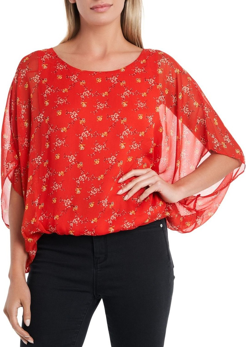 VINCE CAMUTO Floral Print Poncho Top - 100% Exclusive